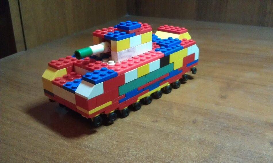 Как из конструктора кроха сделать танк